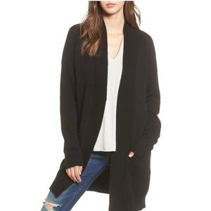 BP Rib Trim Long Cardigan